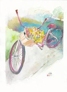 No 82 La bicyclette rose