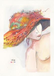 No 83 Dame au chapeau poisson