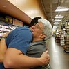 This man was so excited by his Kroger gift card he gave Jeane a big hug!