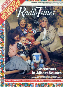 Cover of 'Radio Times' with the listing for 'Africa Tomorrow' inside, Christmas 1986