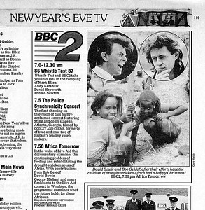 2 - 'Africa Tomorrow' Listing in BBC's Radio Times New Year's Eve 1986