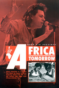 1- Publicity Brochure for 'Africa Tomorrow' BBC Film Broadcast New Year's Eve 1986