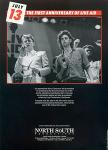 4- Publicity Brochure for 'Africa Tomorrow' BBC Film Broadcast New Year's Eve 1986