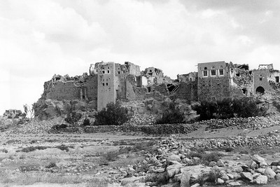Risaba Village, Dhamar Region, Yemen, after 13 December 1982 Earthquake, June 1983