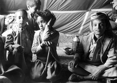 Yemeni Children from Dhamar Region Living in Tents, post 1982 Earthquake