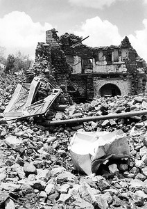 House in Dhamar Region, Yemen, Destroyed by 1982 Earthquake