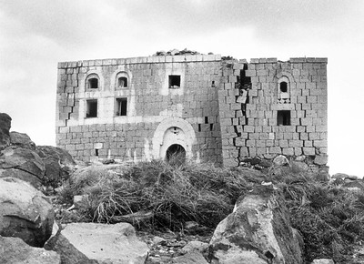 1982 Earthquake Damage to Yemeni House, Dhamar Region, June 1983
