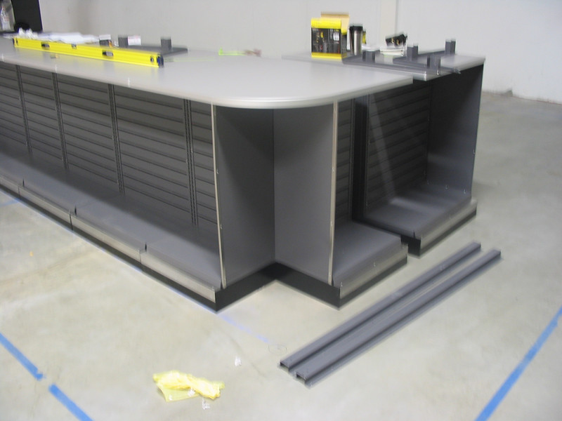 Corner cabinet space.  Space to be used for cardboard shipper or product display?