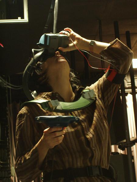 a participant in the DARKCon virtual reality experience.