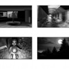 one sheet of the story boards for the Sensory Environments Evaluation Project's DARKCon scenario.