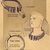 The earliest design for the Scent Collar, by Jacki Morie c. 2003