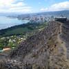 Looking east from the top toward Waikiki