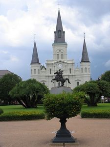 St John's cathedral in the heart of the French Quarter