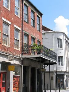 Cool balcony in the French Quarter of New Orleans