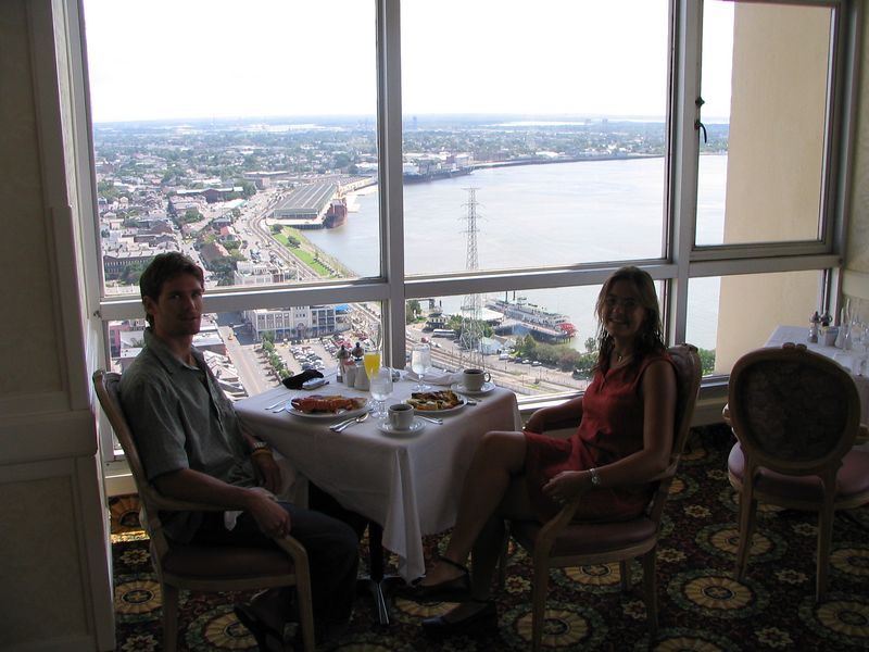 John Stevenson and I splurged to a $40 brunch on the 41st floor of the Marriott Hotel on Sunday morning!