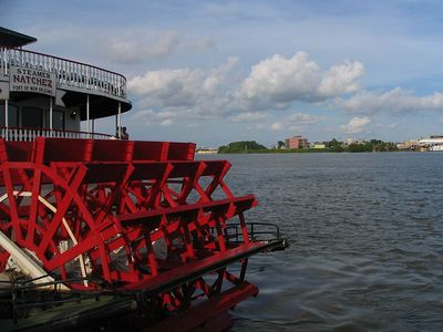 Last night's reception - the paddle boat we went on