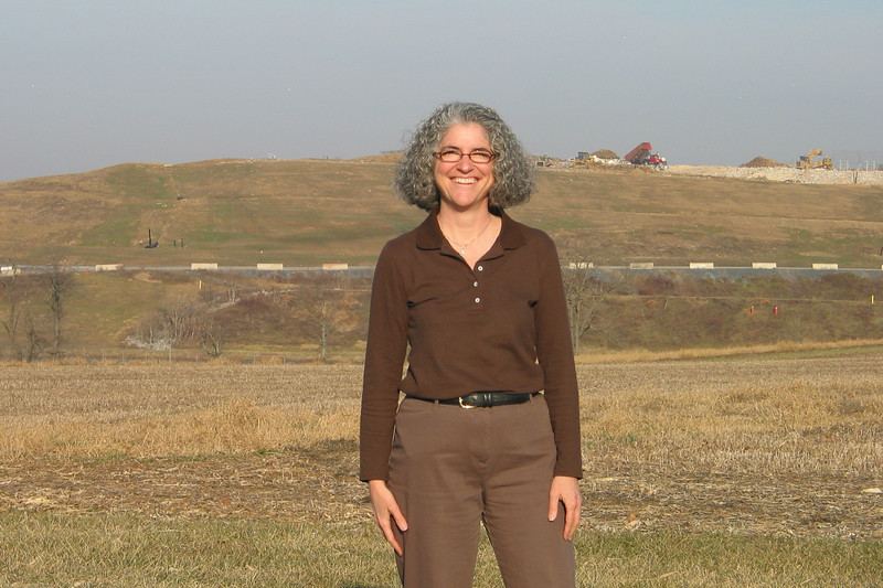 TerraPass visits the Greater Lebanon Refuse Authority landfill outside Lebanon, PA!  Active landfill operations can be seen above my shoulder on the right-hand side of the picture.  It was a very warm day for early January in this part of the country.