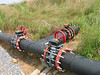 Header pipes come together from Old landfill (from left), newest section (from right) and late 1990s section (from top)