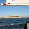 We flew past Alcatraz on an extended beam reach.