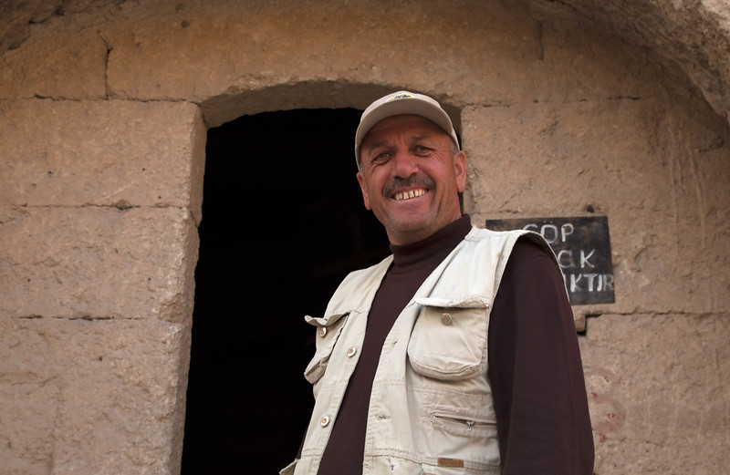 This man told us about his dream to build a hotel in a Cappadocia. His great grandfather made his home in this cave so he will make it the reception lobby for his hotel.