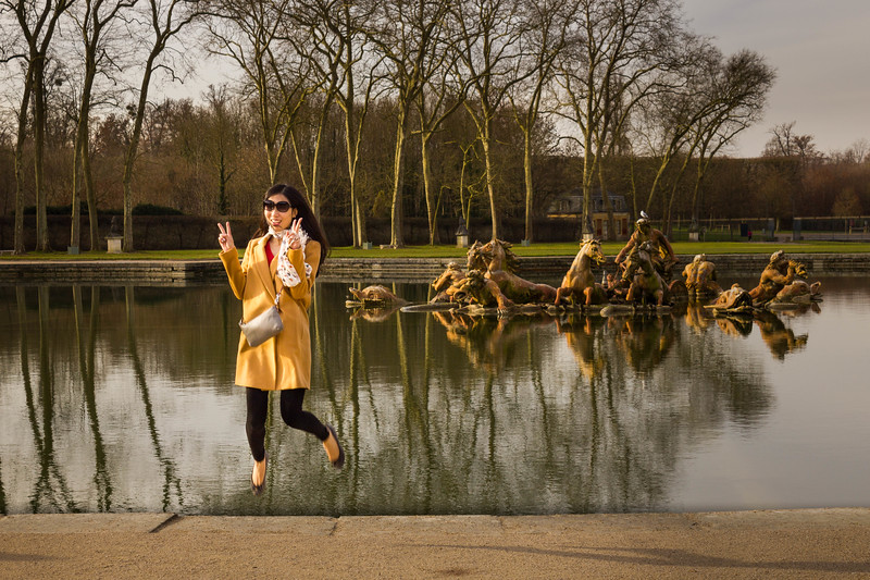 Tourist  Jumping  -Versailles, France