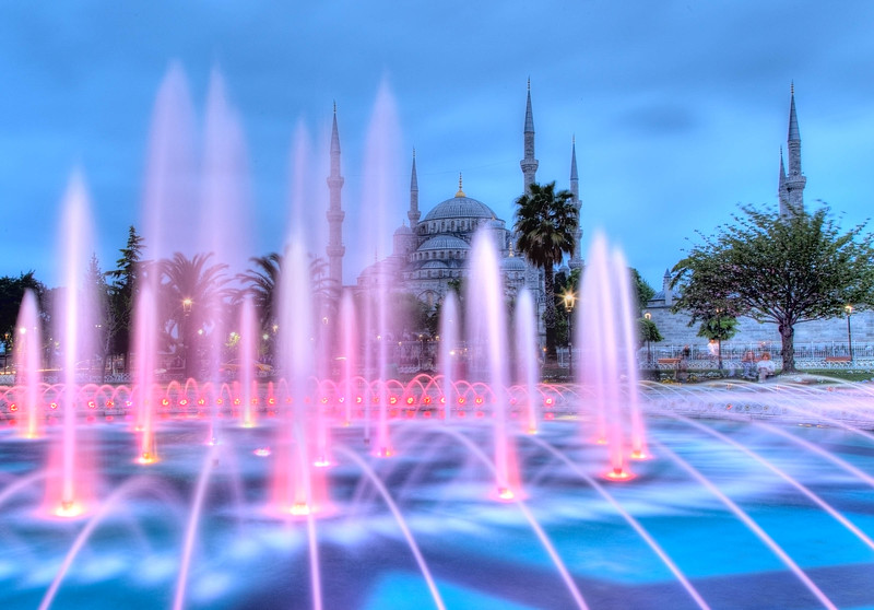 Istanbul, The Blue Mosque and Fountain