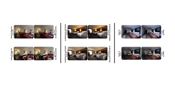 Three Motel Rooms