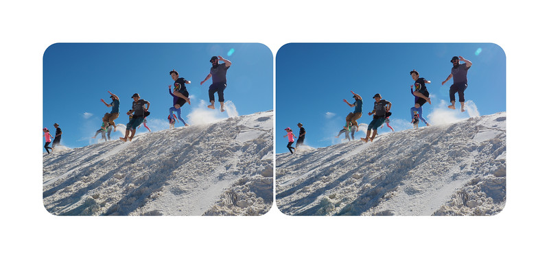 Jumping a dune, White Sands National Park