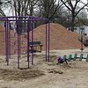 Work was underway to put in Wallis Park Playground that was funded through a citizens petition on Friday morning in Lunenburg. SENTINEL & ENTERPRISE/JOHN LOVE