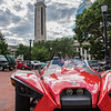 Springfield's Campanile looms over the 2015 Polaris Slingfhot, owned by Ray Lalli, of East Longmeadow, at Springfield Business Improvement District's Cruise Night on Monday at Court Square. (Steven E. Nanton photo)