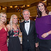 "Lindsay Arnold, left, professional dancer on ""Dancing With the Stars;"" and Kara Wolters, right, Olympic Gold Medalist basketball player, pose with Heather Gawron, of Wilbraham, and U.S. Rep. Richard E. Neal, D-Springfield, at the third annual Bay Path University President's Gala at the Sheraton Springfield Monarch Place Hotel on Saturday night. (Steven E. Nanton photo)"