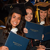 New graduates proudly display their diplomas at the 179th Westfield State University commencement on Saturday at MassMutual Center in Springfield. (Steven E. Nanton photo)