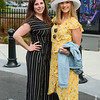 Kristen Michaelian, left, of East Longmeadow, and Samantha Savoie, of Chicopee, attend the Horsin' Around Patio Party at MGM Springfield to see the  145th running of the Kentucky Derby on Saturday. (Steven E. Nanton photo)