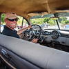 Tom Patnaude, of West Springfield, sits behind the wheel of his 1951 Pontiac Chieftan at the Cruisin' for the Kids Car Show on Plainfield Street in the Springfield's North End on Saturday. Proceeds of the event benefited Baystate Children's Hospital. (Steven E. Nanton photo)