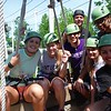 fun and excitement for the hole family or friends on the zip lines.