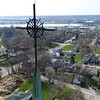 The view from the cross.  Mississippi River and Rock Island IL.