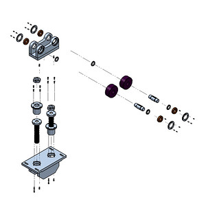 Exploded View of Roller Assembly