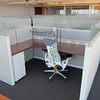 My new cubicle. The seat looks awesome.