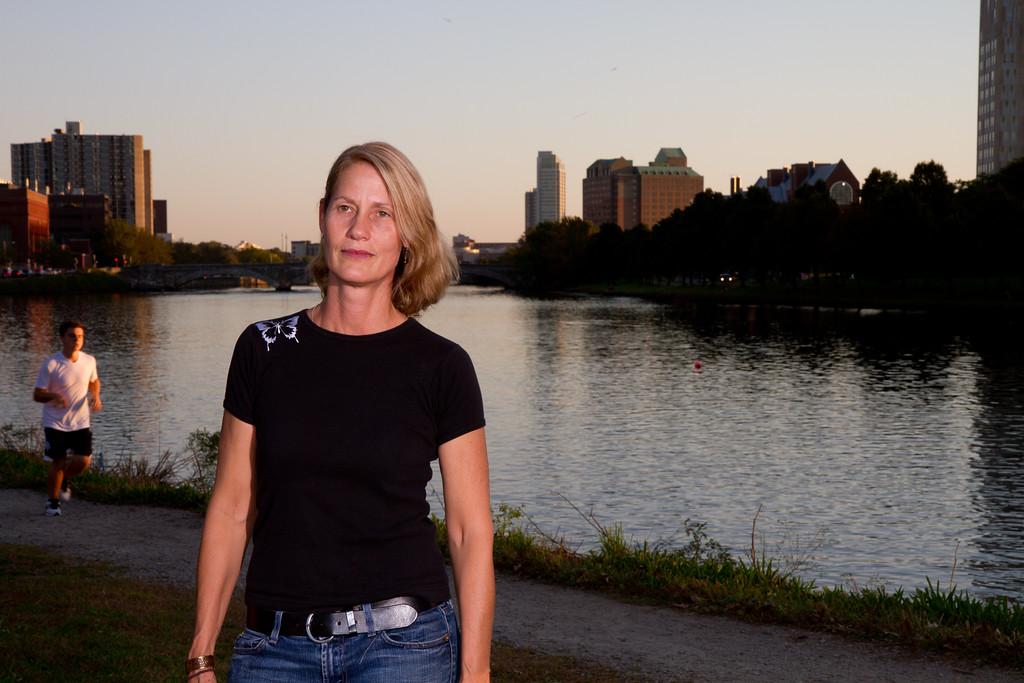 Woman at the Charles River. Fall 2011. Creative Commons BY-NC-SA 2011 Jason Pramas.