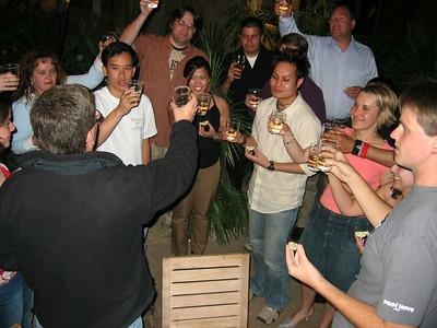 "Michael's creative toast  ""To Homestead!"""