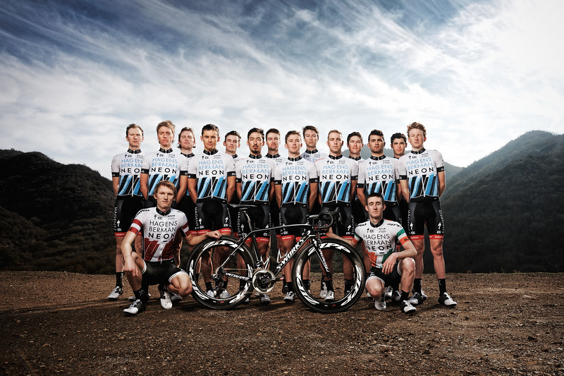Axeon Hagens Berman Cycling Team in Malibu. (Photo by Davey Wilson)