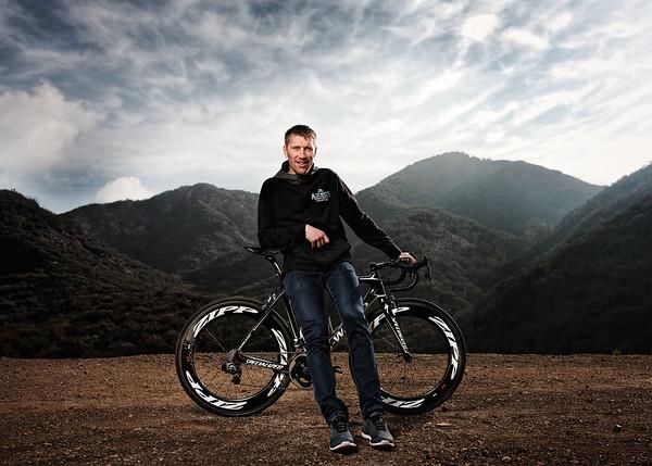 Axel Merckx on his Specialized bike in Malibu. (Photo by Davey Wilson)