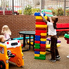 Children enjoy the Hoover Public Library's preschool outdoor play area.