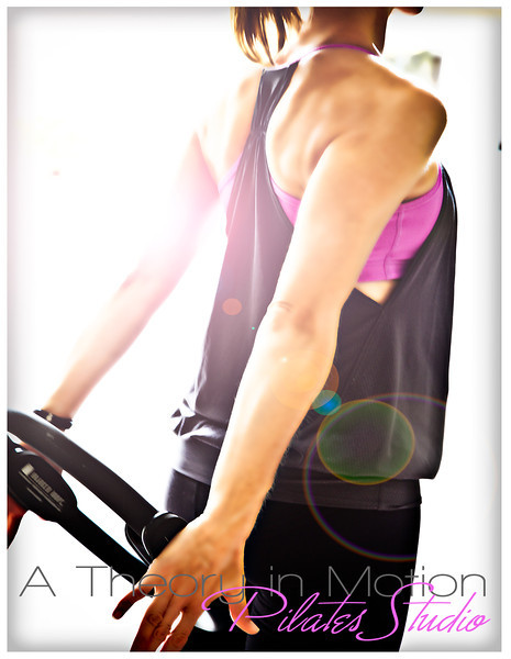Promotion piece: A Theory in Motion Pilates Studio (front) (Design/Photography by Laura Schmidt Photography)