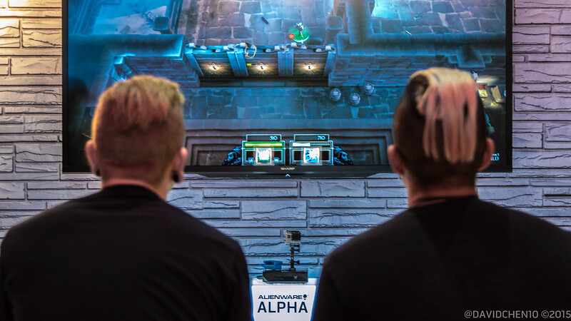 2/3 of The Glitch Mob playing around at our E3 booth