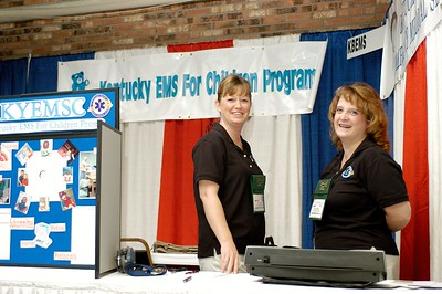 Kentucky Board of EMS booth. Kentucky EMS Conference and Expo.