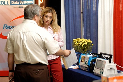 Zoll Medical booth. Kentucky EMS Conference and Expo.