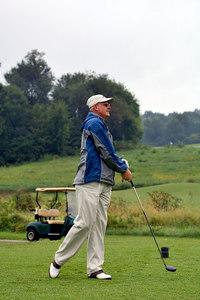 Marshall County's Mark Harrison tees off. Kentucky EMS Golf Scramble. Summit County Club, Owensboro.  N37° 48.31' W87° 00.36'