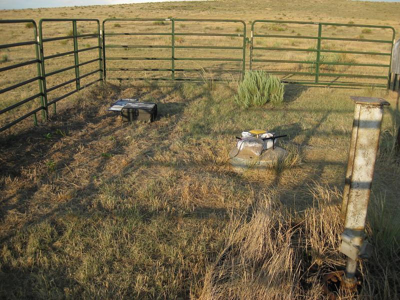 GPS Field Campaign, Rio Grande Rift Project, Eastern Colorado, July 2008<br /> <br /> Day 1 tear down at the Tri-corner site (CO-KS-NE)