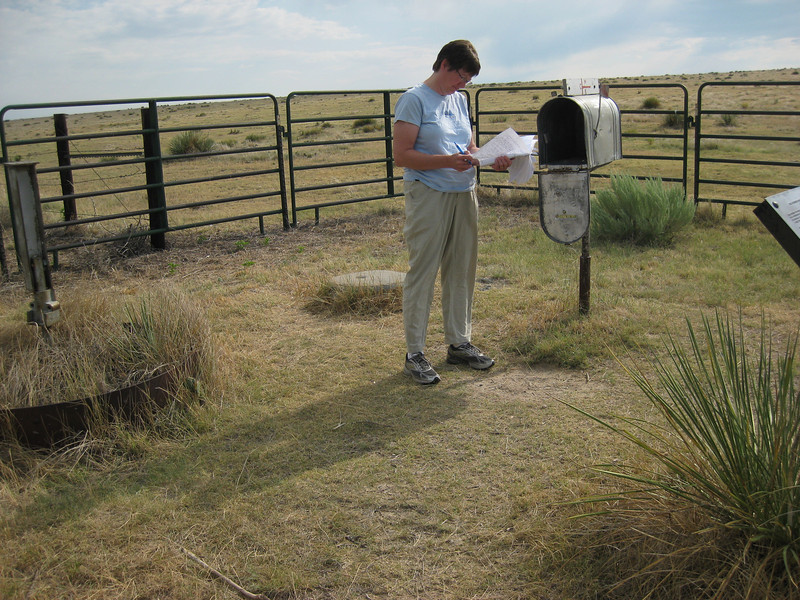 GPS Field Campaign, Rio Grande Rift Project, Eastern Colorado, July 2008<br /> <br /> Boundary Mon Co KS NE, 40.0032, -102.052<br /> <br /> Look at those nice metal objects: metal witness post and large mailbox near the monument!